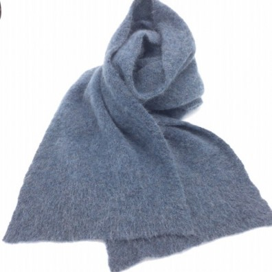 Echarpe bleu gris